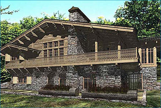 Alpine chalet house plans home design and style for Alpine home designs