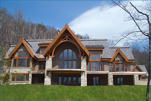 Gothic Style Homes post & beam gothic style house - luxury homes, mont tremblant (lac